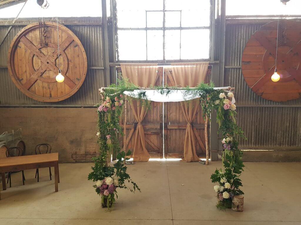 birch chuppah weddings of distinction. Black Bedroom Furniture Sets. Home Design Ideas