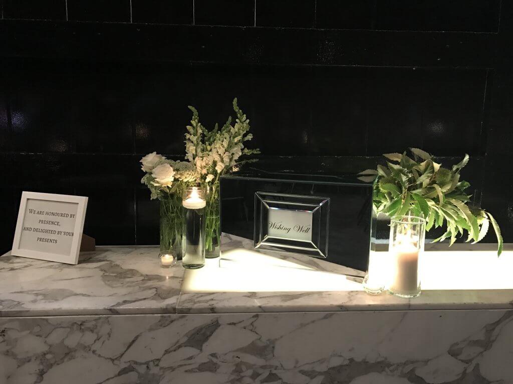 mirror wishing well weddings of distinction. Black Bedroom Furniture Sets. Home Design Ideas