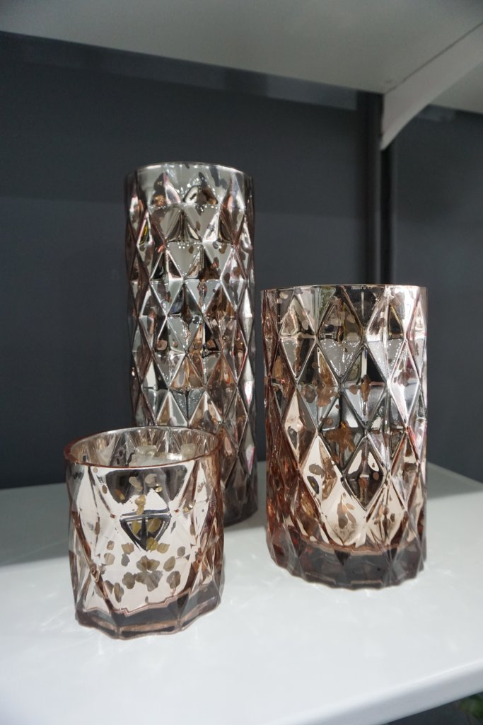 Rose Gold Geometric Vases Weddings Of Distinction